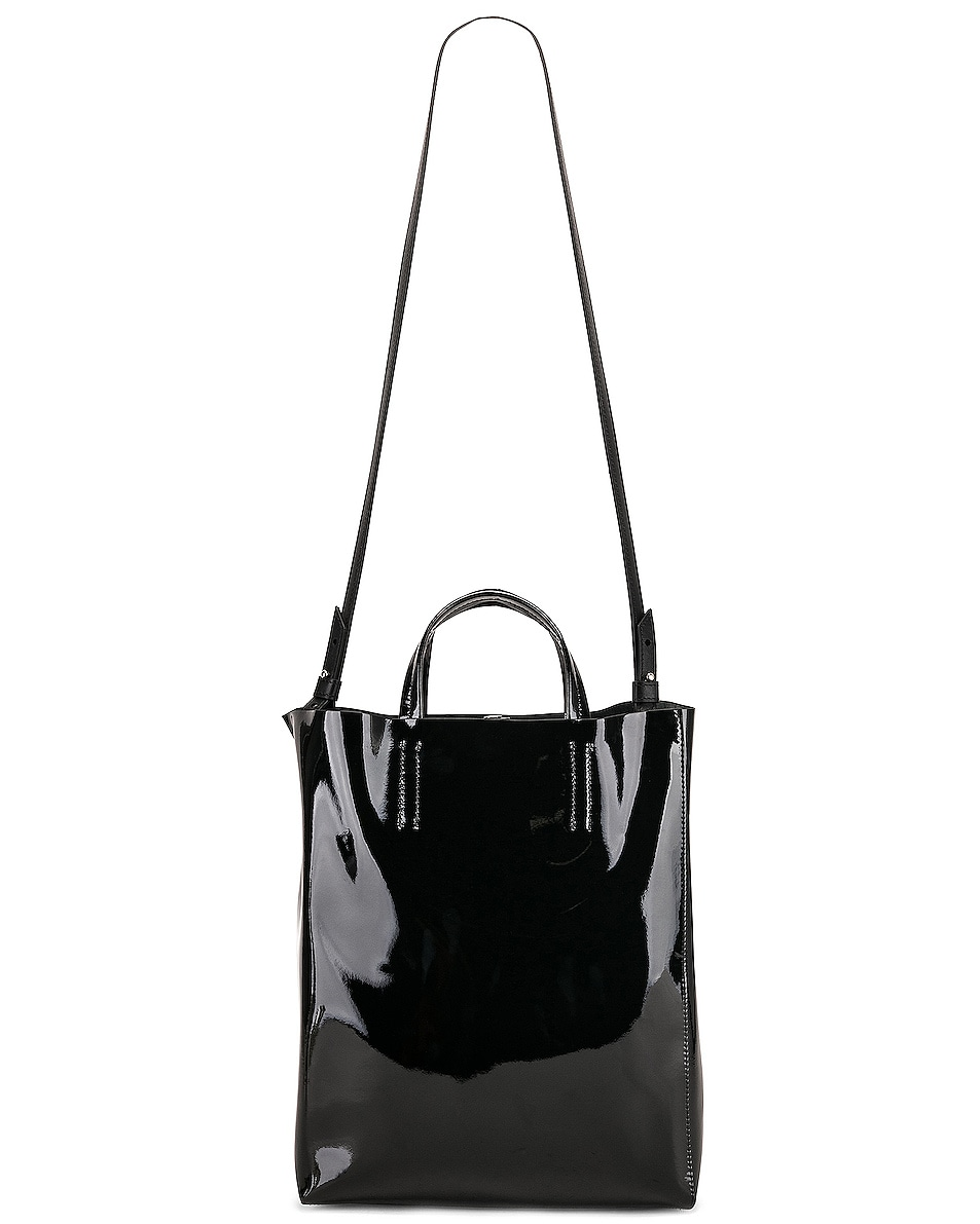 Image 6 of Acne Studios Baker Patent Bag in Black