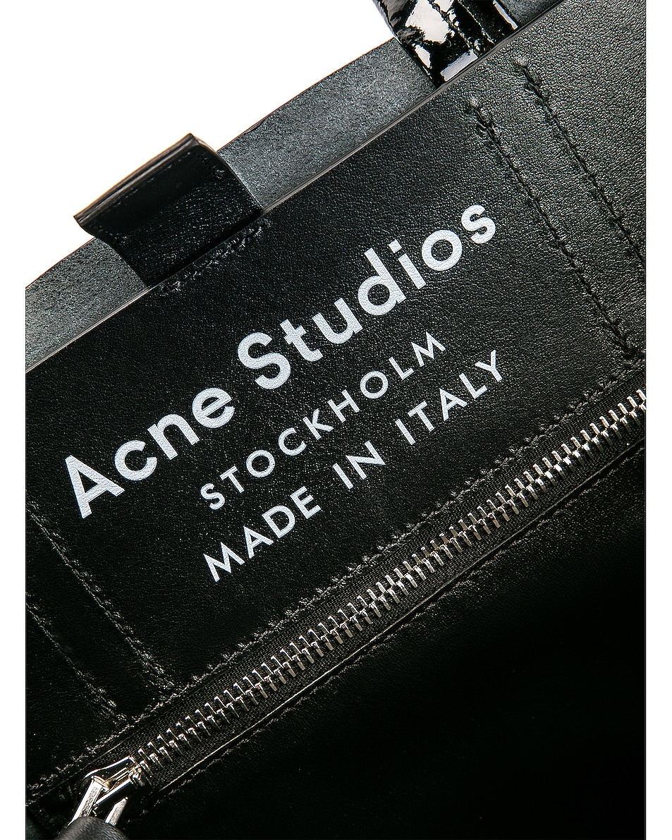 Image 7 of Acne Studios Baker Patent Bag in Black