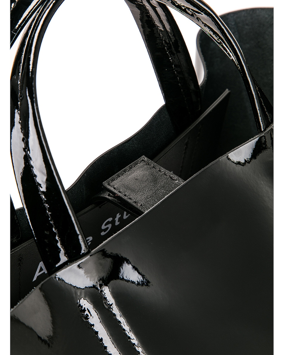Image 8 of Acne Studios Baker Patent Bag in Black