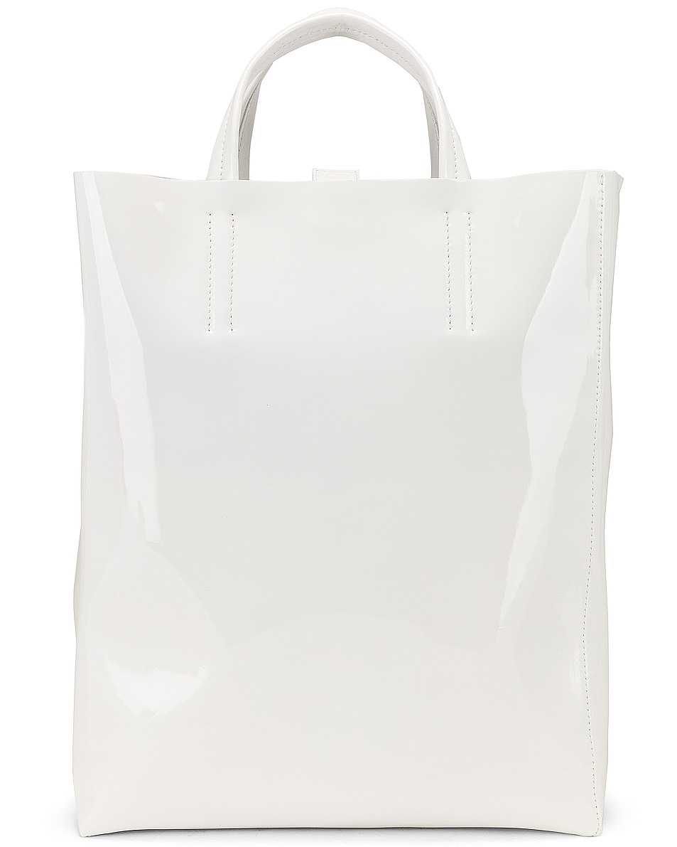 Image 1 of Acne Studios Baker Patent Bag in White