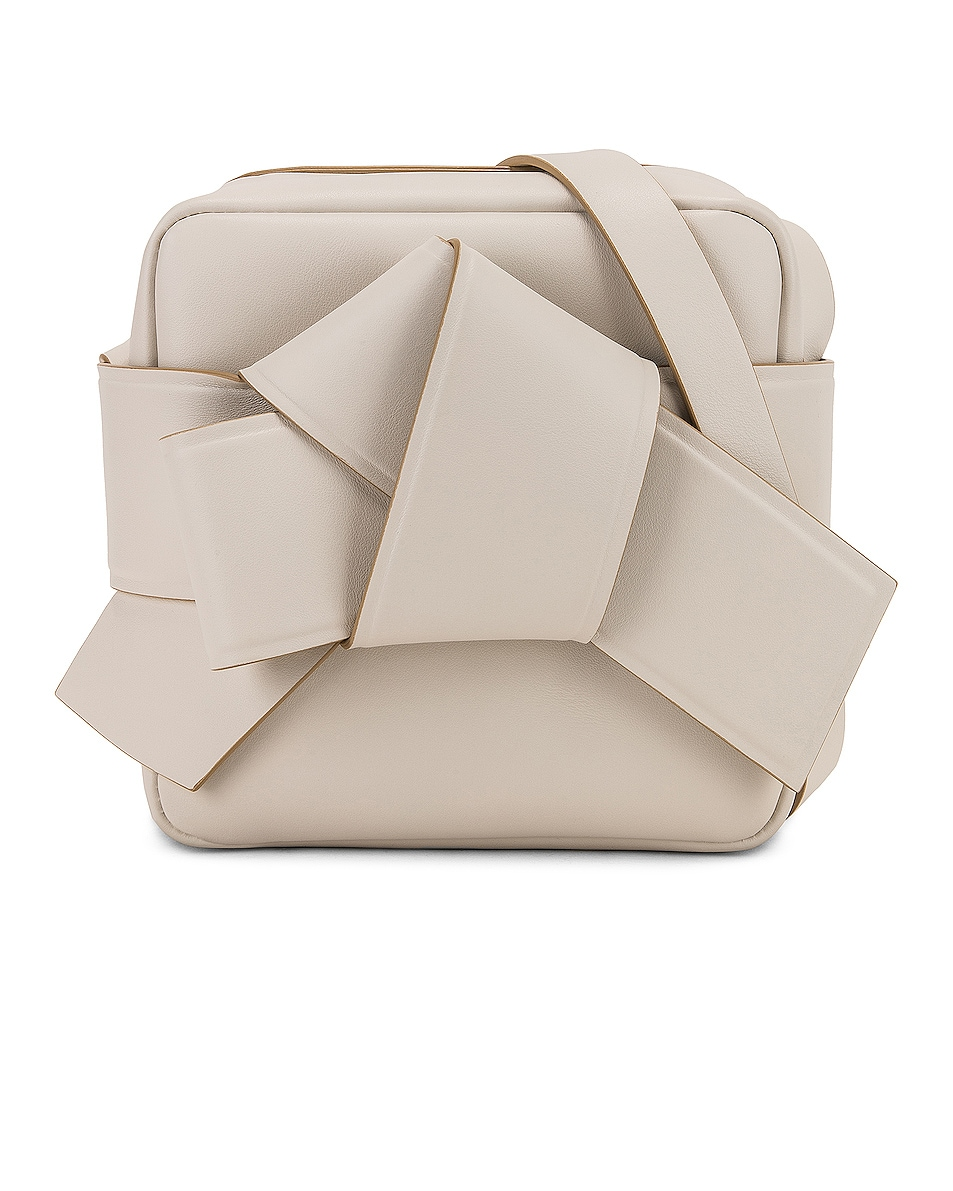 Image 1 of Acne Studios Musubi Camera Bag in White & Sand Beige