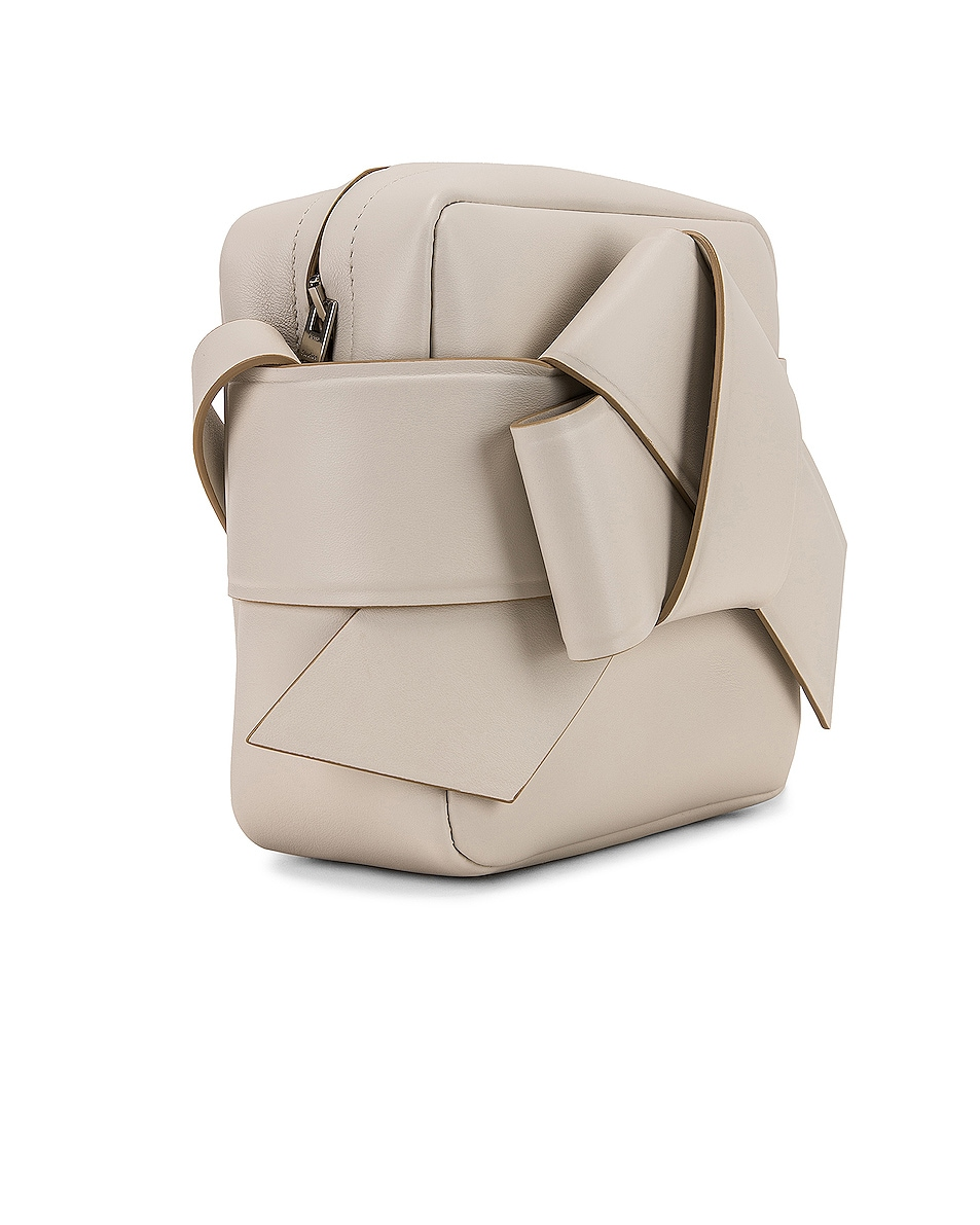 Image 4 of Acne Studios Musubi Camera Bag in White & Sand Beige