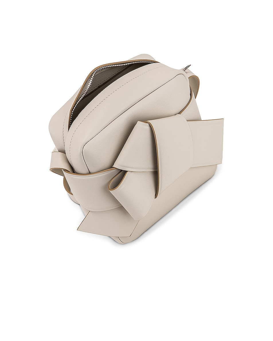 Image 5 of Acne Studios Musubi Camera Bag in White & Sand Beige