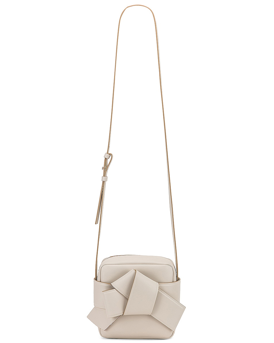 Image 6 of Acne Studios Musubi Camera Bag in White & Sand Beige