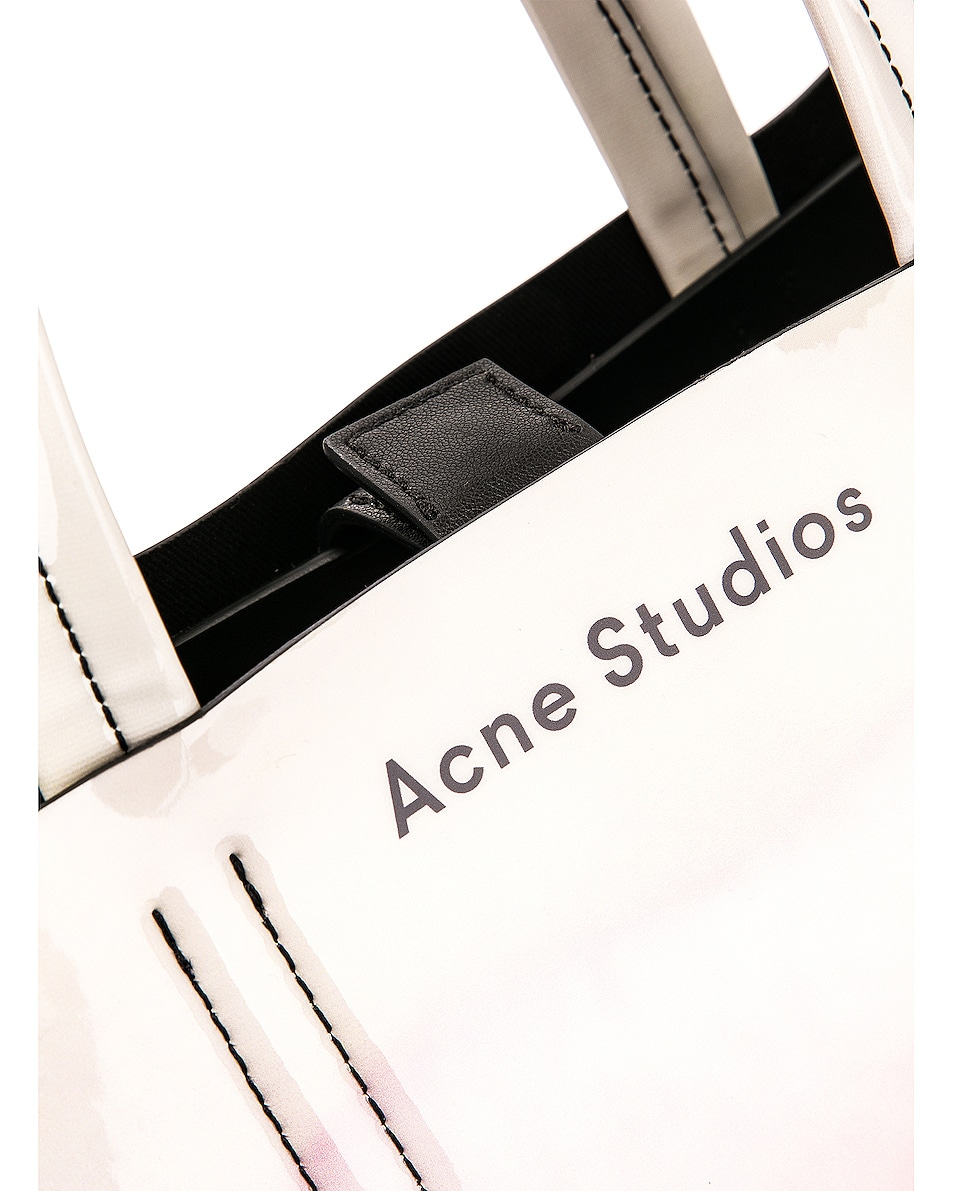 Image 8 of Acne Studios Baker Graphic Bag in Pink