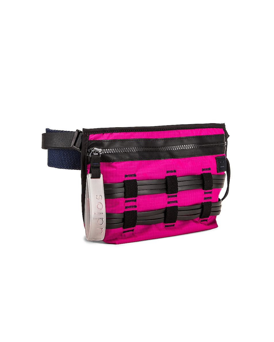 Image 4 of Acne Studios Abbey Bum Bag in Magenta Pink