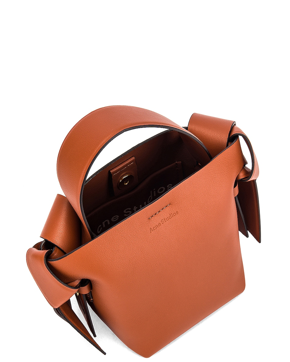 Image 5 of Acne Studios Micro Bucket Bag in Almond Brown