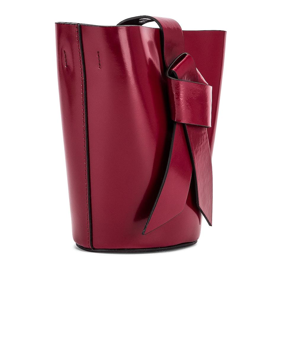 Image 4 of Acne Studios Shiny Musubi Bucket Bag in Burgundy