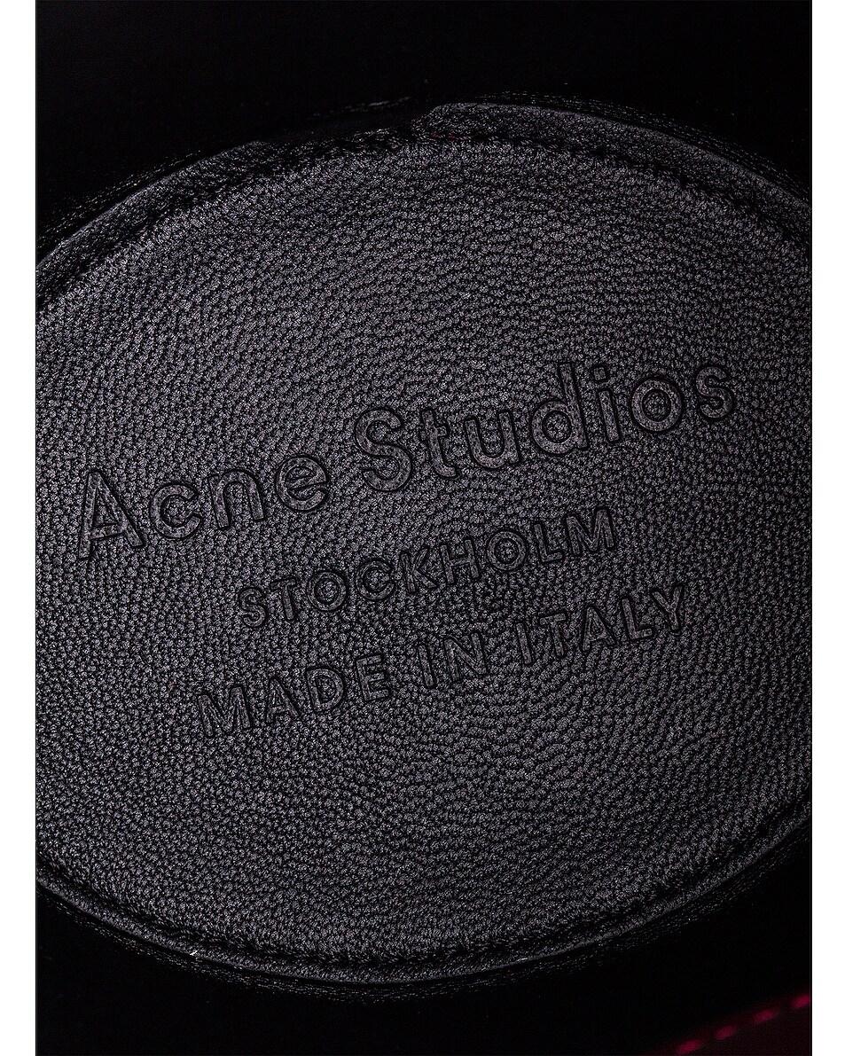 Image 7 of Acne Studios Shiny Musubi Bucket Bag in Burgundy
