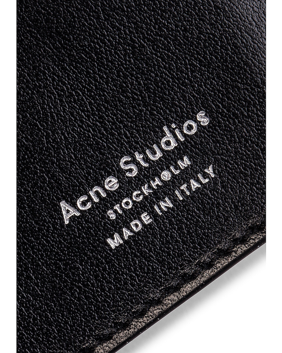 Image 7 of Acne Studios Big Coin Purse in Black
