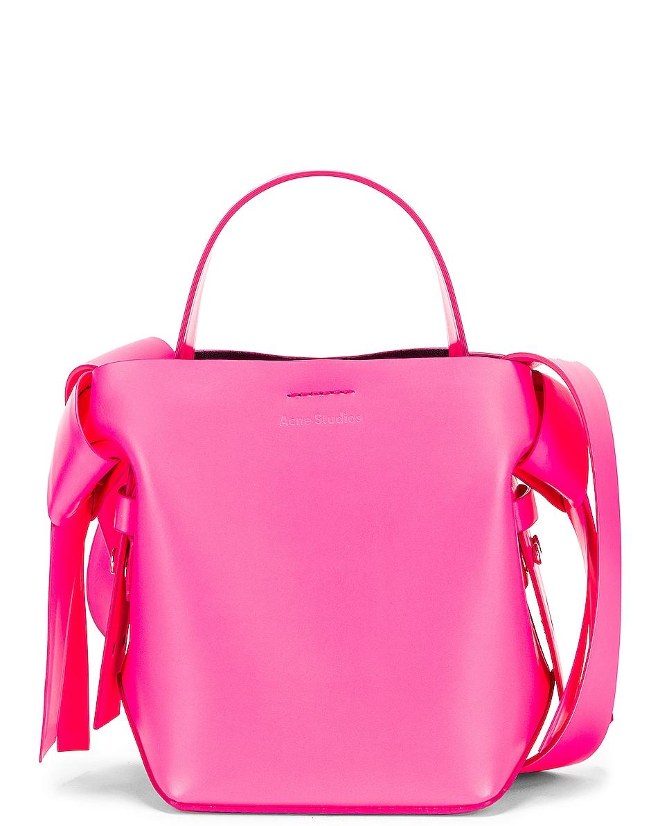 Image 1 of Acne Studios Micro Musubi Bag in Fluo Pink