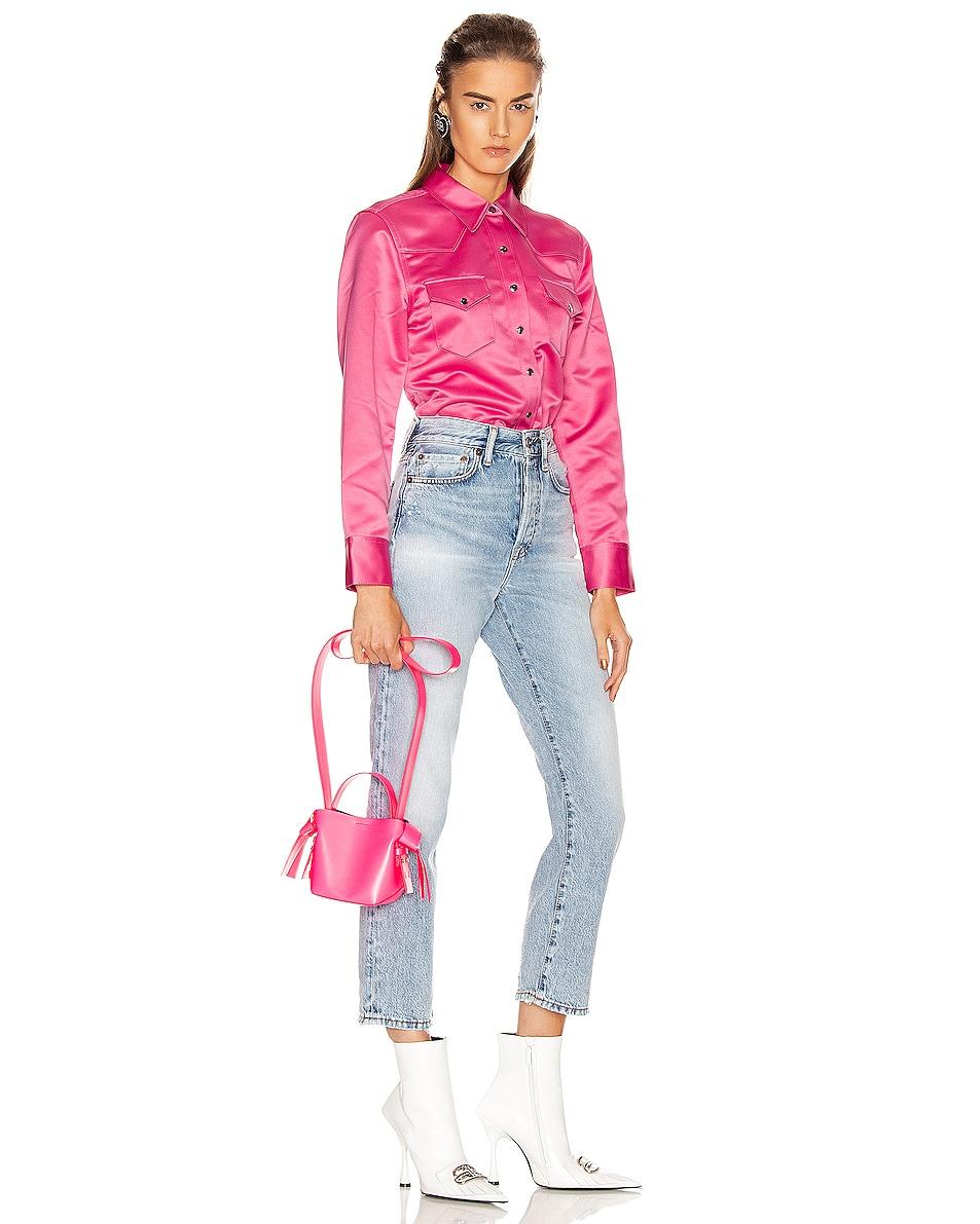 Image 2 of Acne Studios Micro Musubi Bag in Fluo Pink