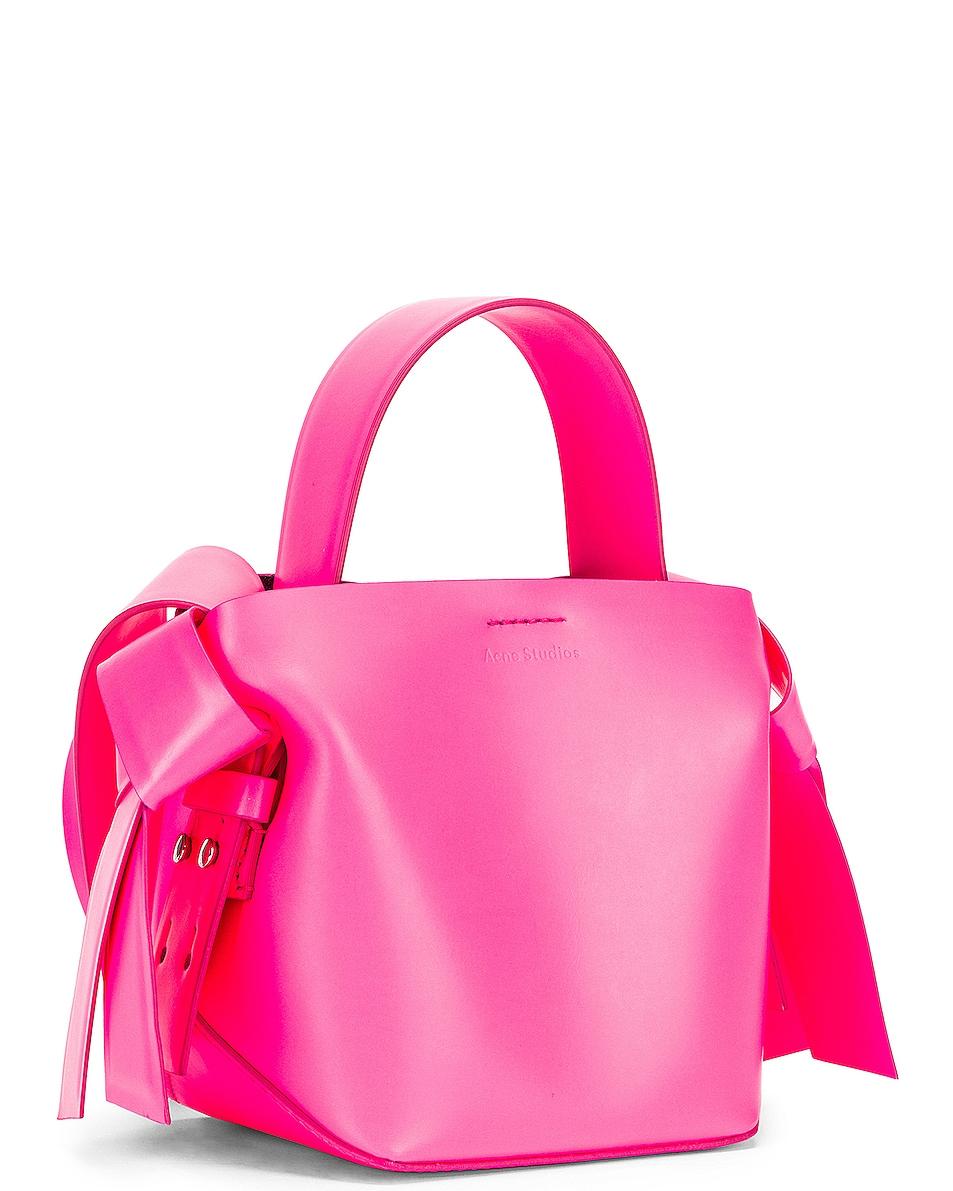 Image 4 of Acne Studios Micro Musubi Bag in Fluo Pink