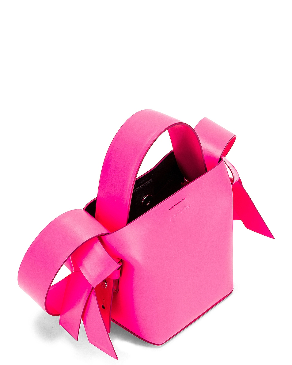 Image 5 of Acne Studios Micro Musubi Bag in Fluo Pink