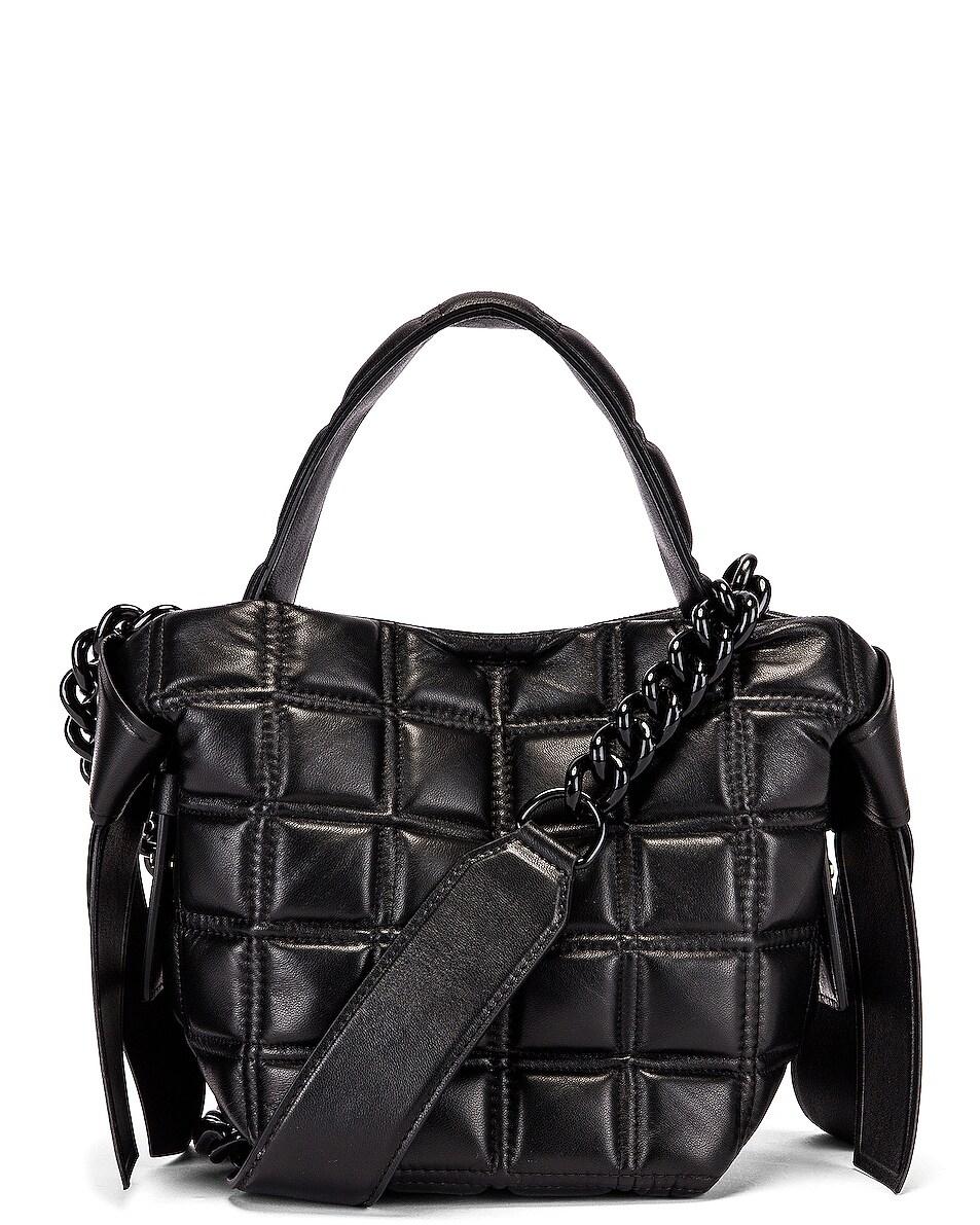 Image 1 of Acne Studios Mini Quilted Musubi Bag in Black