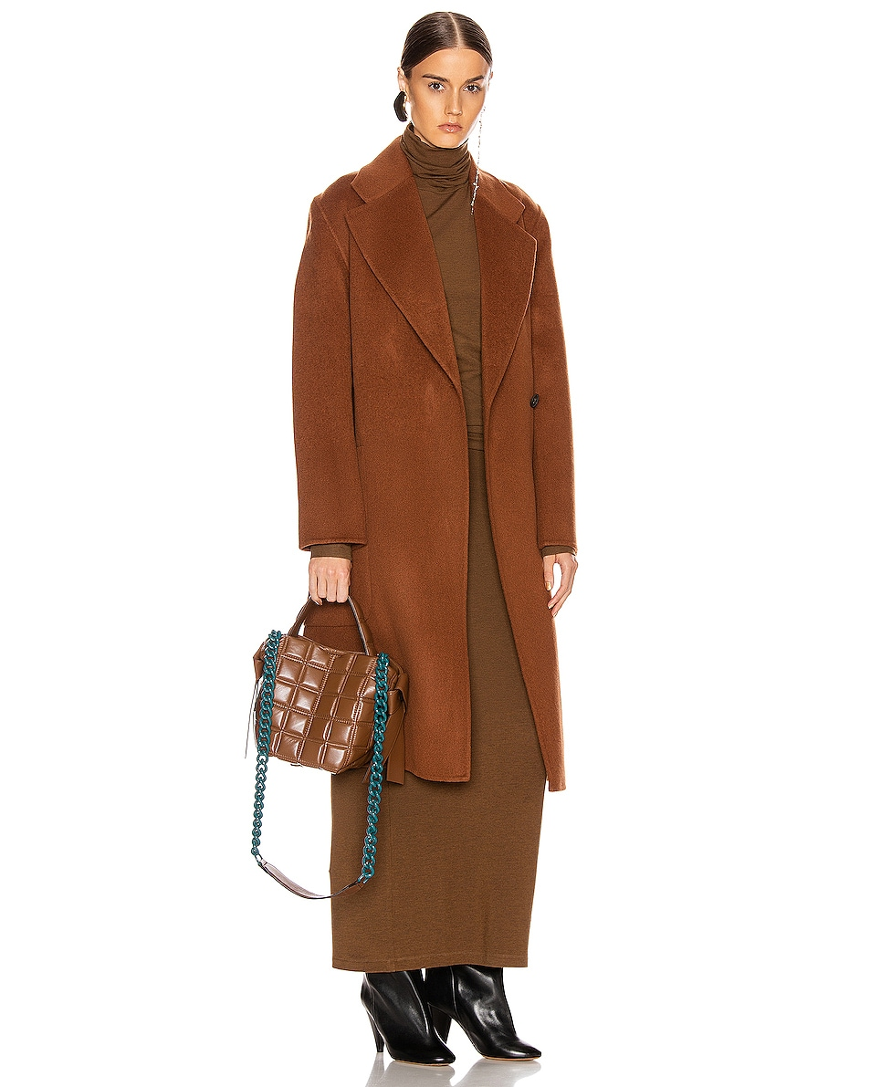 Image 2 of Acne Studios Mini Quilted Musubi Bag in Chocolate Brown