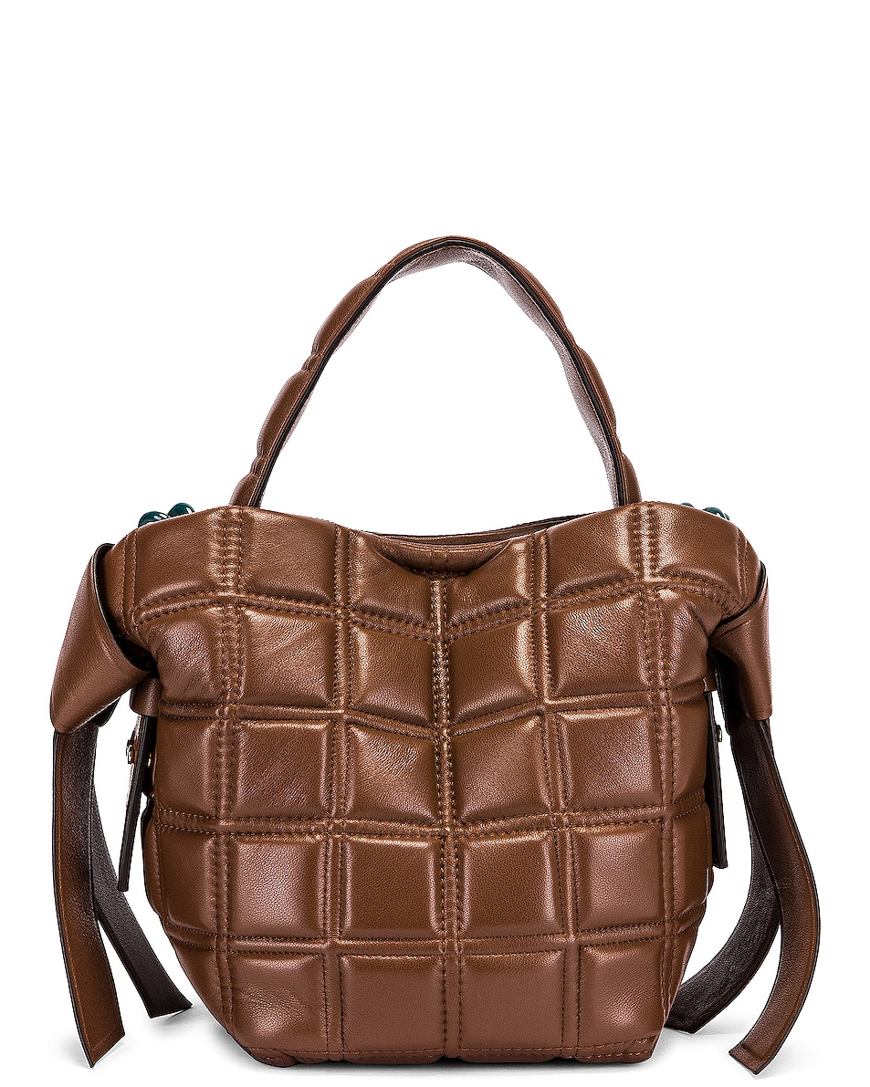 Image 3 of Acne Studios Mini Quilted Musubi Bag in Chocolate Brown