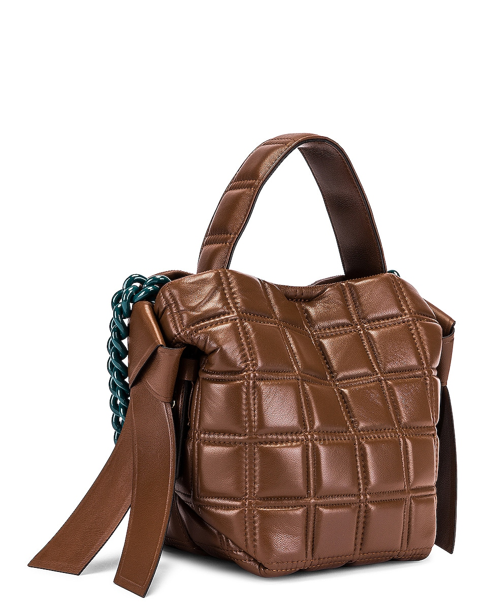 Image 4 of Acne Studios Mini Quilted Musubi Bag in Chocolate Brown