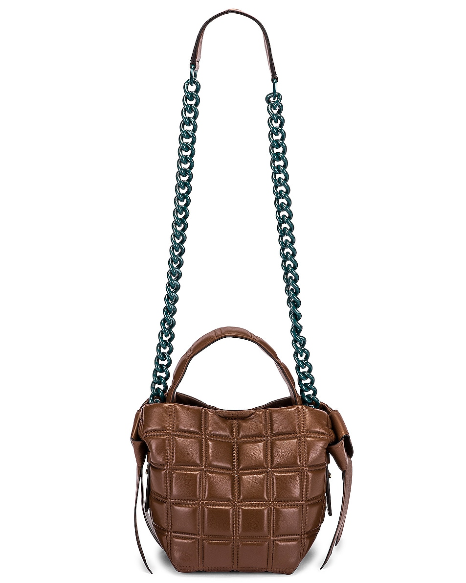 Image 6 of Acne Studios Mini Quilted Musubi Bag in Chocolate Brown