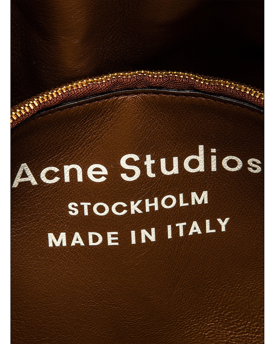 Image 7 of Acne Studios Mini Quilted Musubi Bag in Chocolate Brown