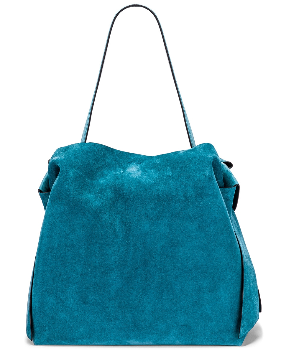 Image 3 of Acne Studios Musubi Maxi Bag in Mineral Blue