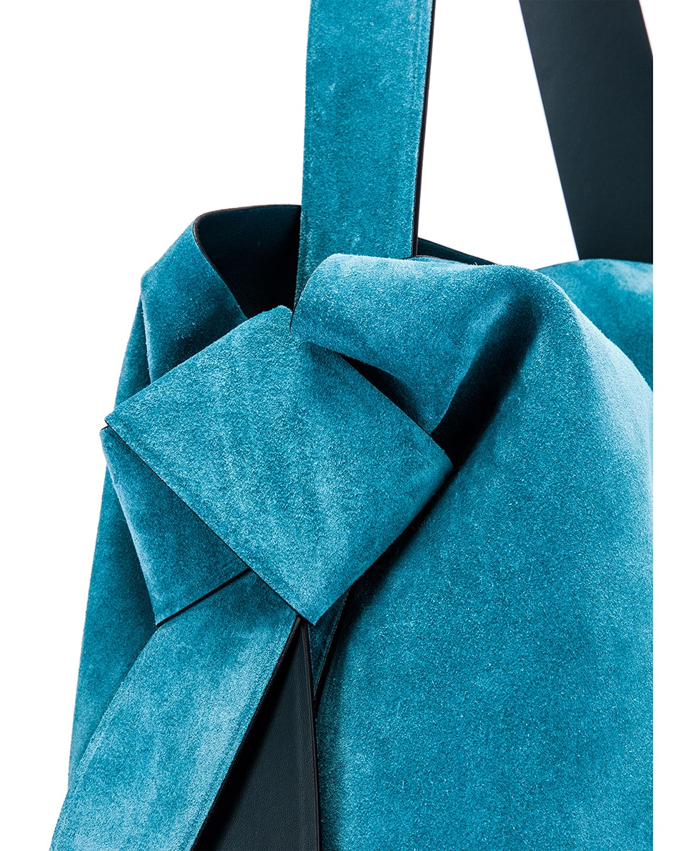 Image 7 of Acne Studios Musubi Maxi Bag in Mineral Blue