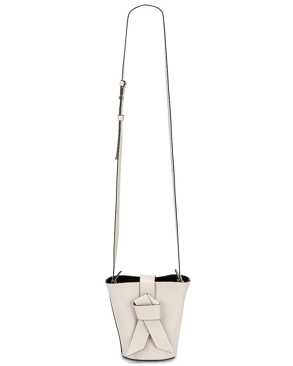 Image 6 of Acne Studios Musubi Bucket Bag in White & Black