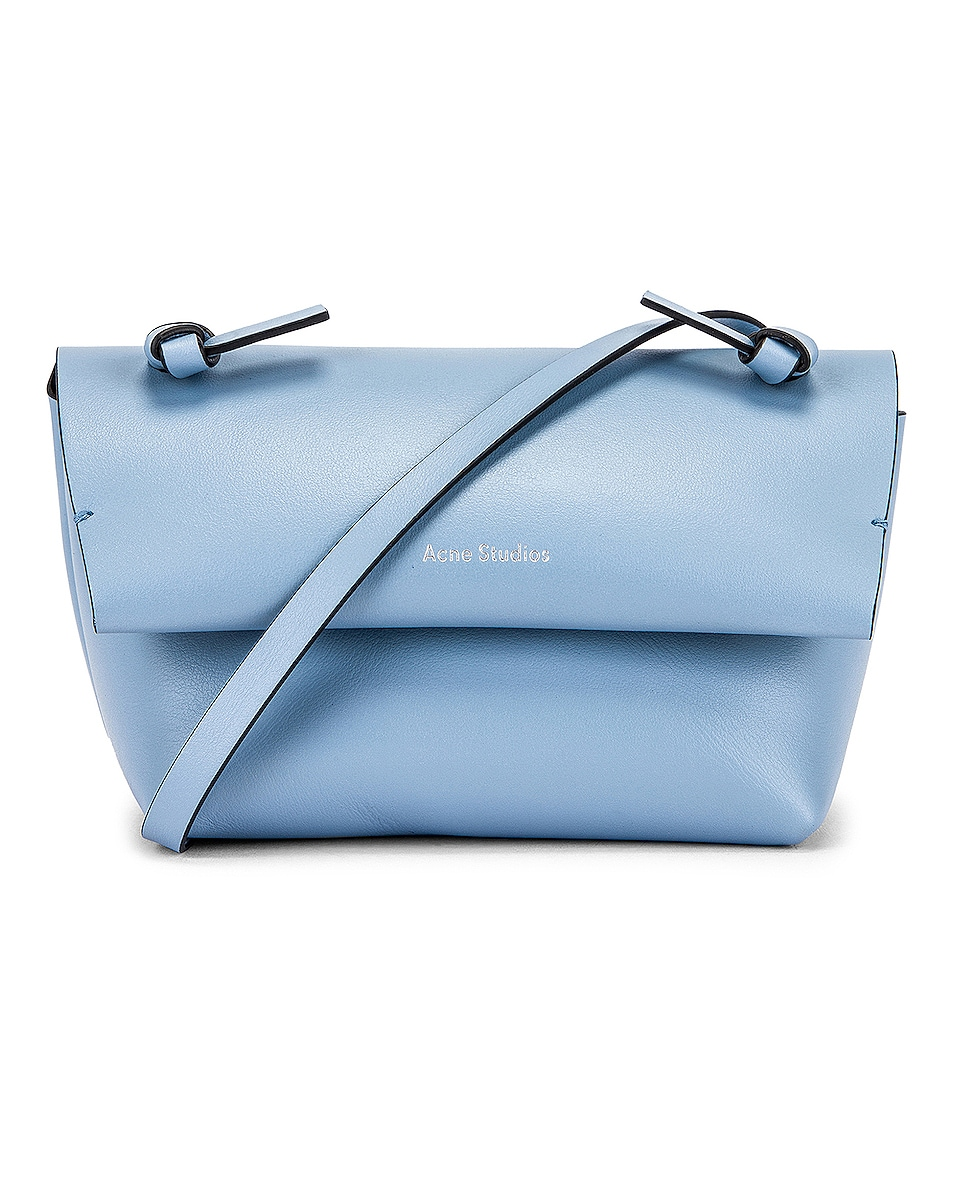 Image 1 of Acne Studios Mini Bag in Light Blue & Black