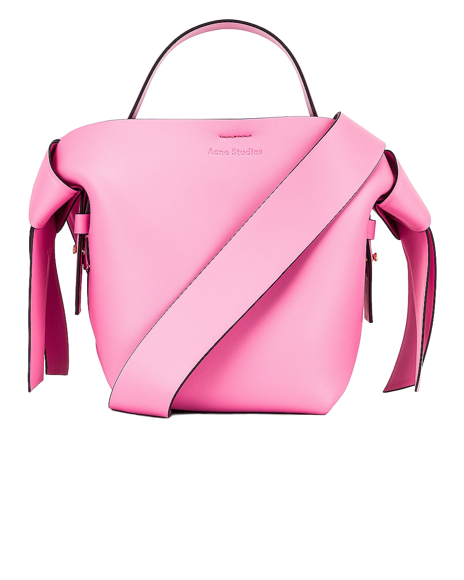 Image 1 of Acne Studios Mini Bucket Bag in Pink & Black
