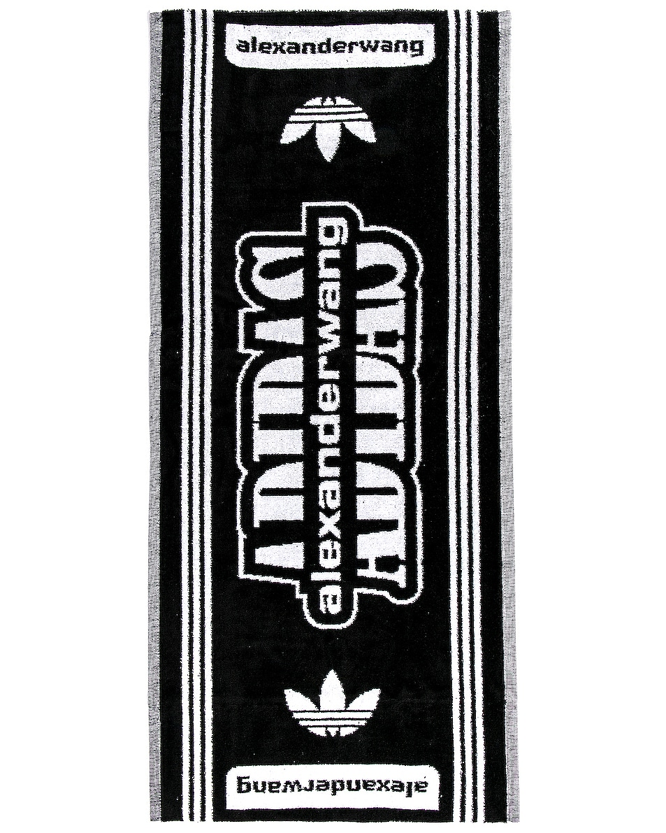 Image 2 of adidas by Alexander Wang Gym Towel in Black