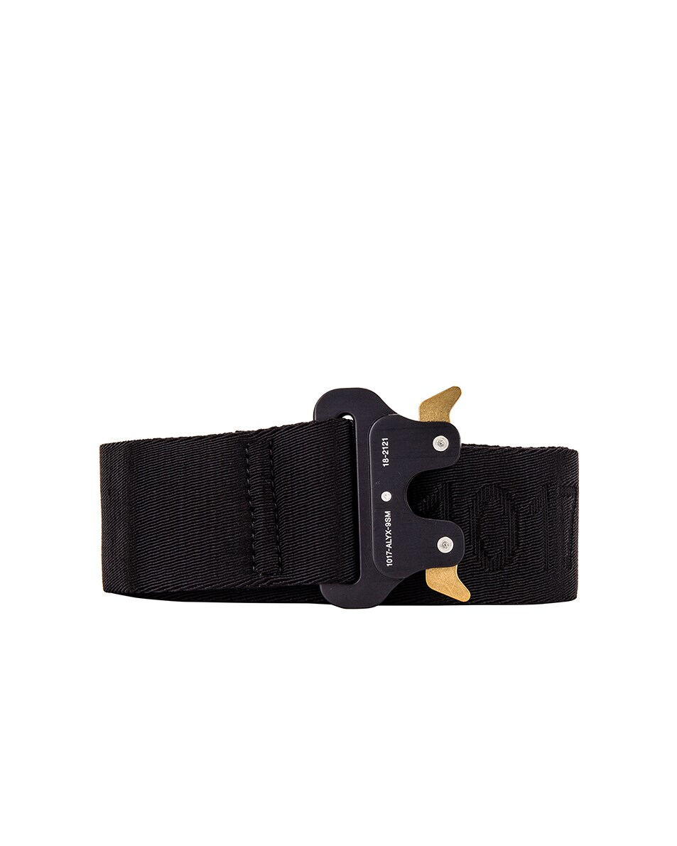 Image 1 of 1017 ALYX 9SM Classic Rollercoaster Belt With Logo in Black
