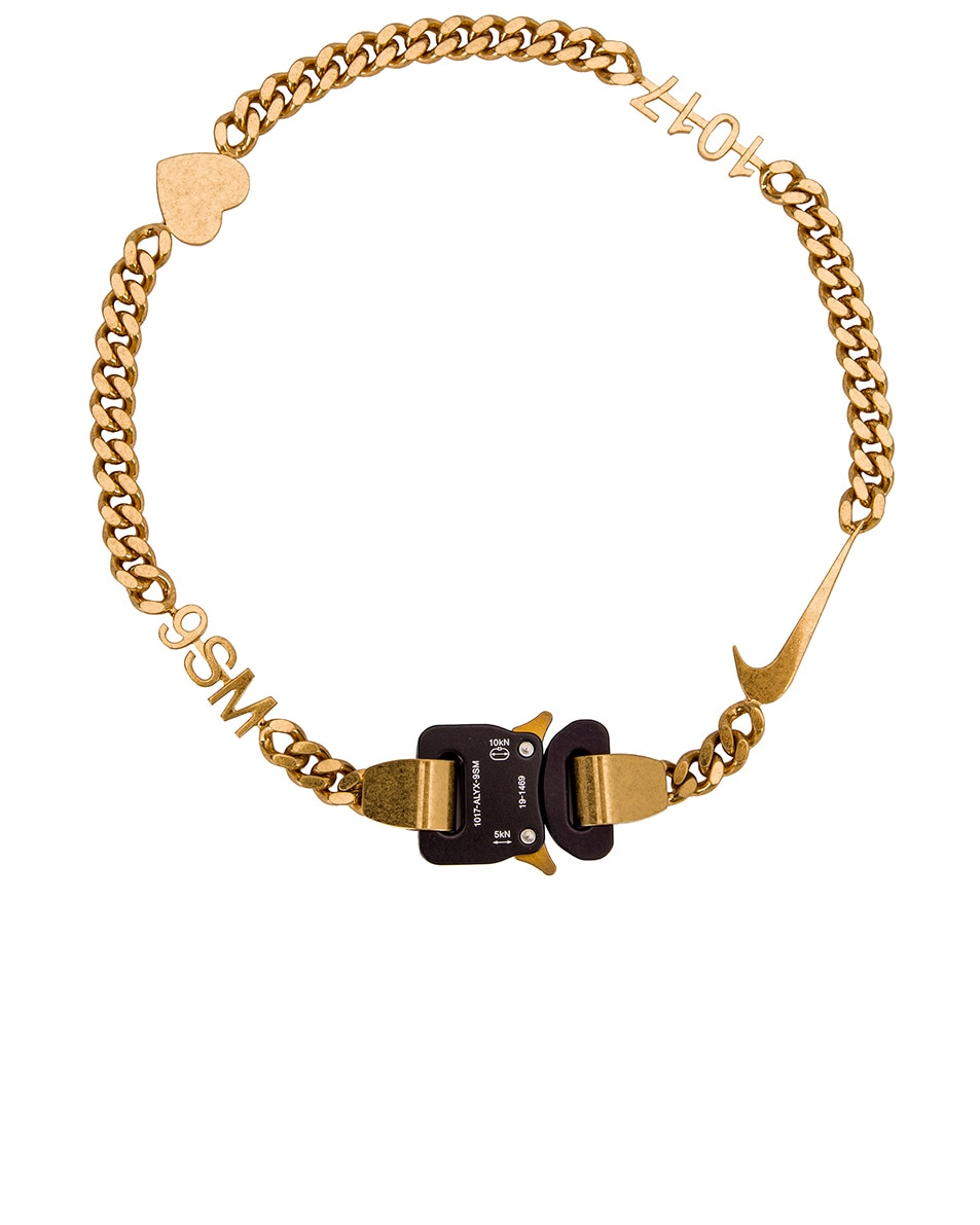 Image 1 of 1017 ALYX 9SM Hero Charm Necklace in Gold