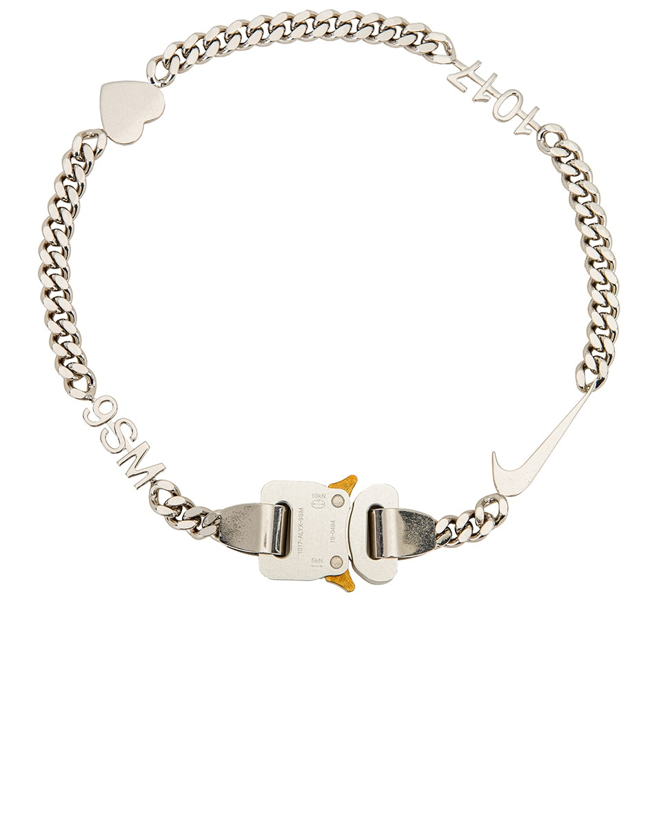 Image 1 of 1017 ALYX 9SM Hero Charm Necklace in Silver
