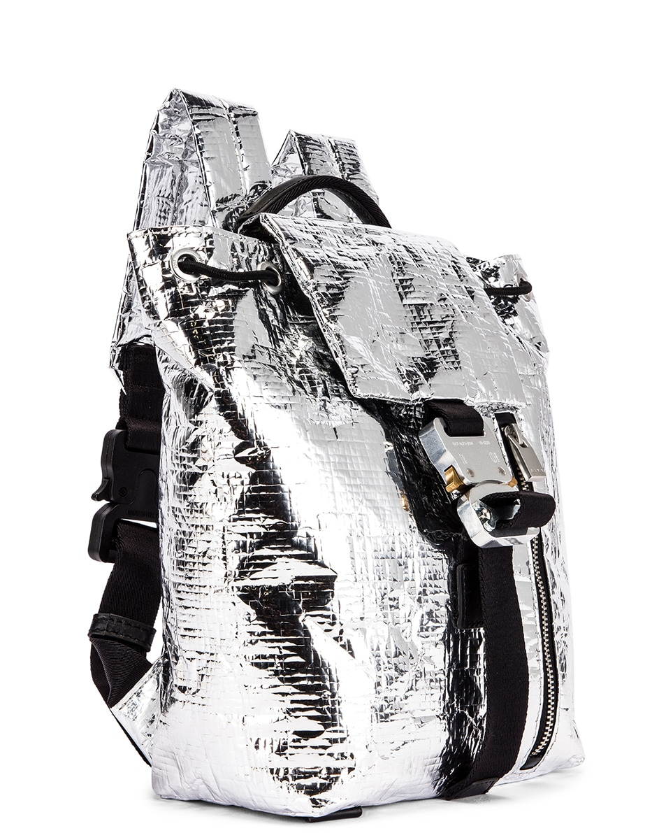 Image 4 of 1017 ALYX 9SM Small Tank Backpack in Silver