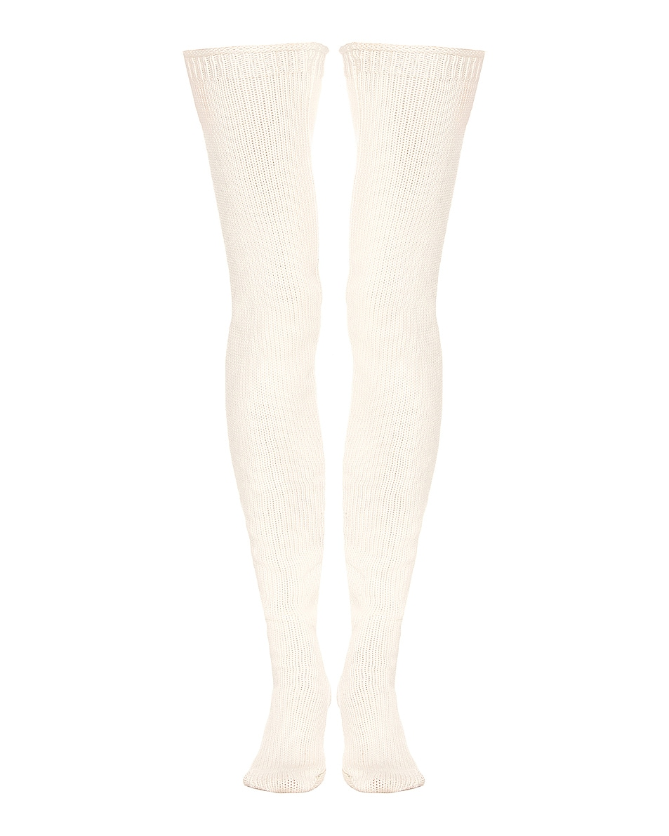 Image 1 of Aisling Camps Long Socks in Ivory