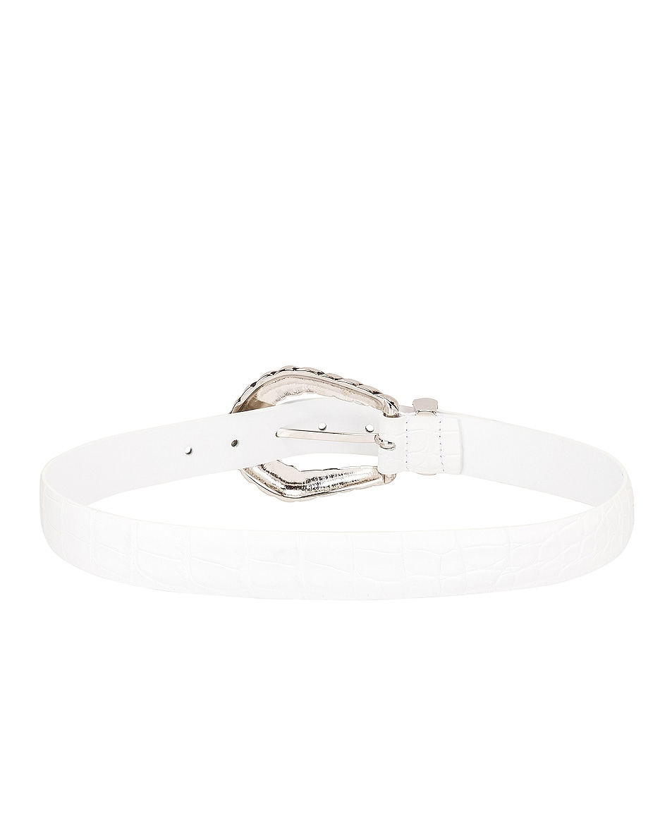 Image 3 of ALBERTA FERRETTI Leather Buckle Belt in Fantasy White