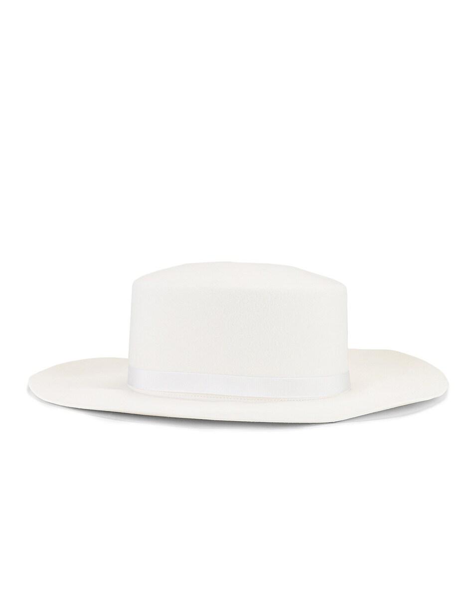 Image 3 of ALBERTA FERRETTI Circle Hat in White