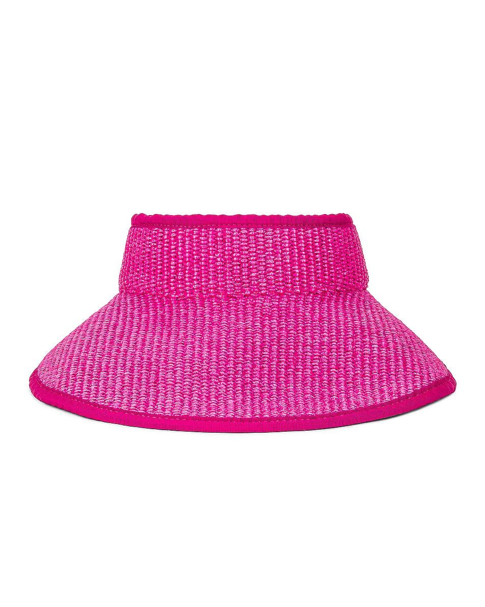Image 1 of ALBERTA FERRETTI Raffia Tie Hat in Violet