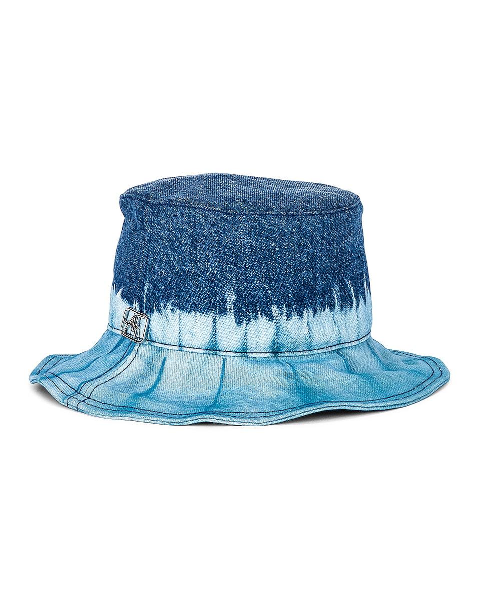 Image 1 of ALBERTA FERRETTI Cotton Bucket Hat in Fantasy Print Blue