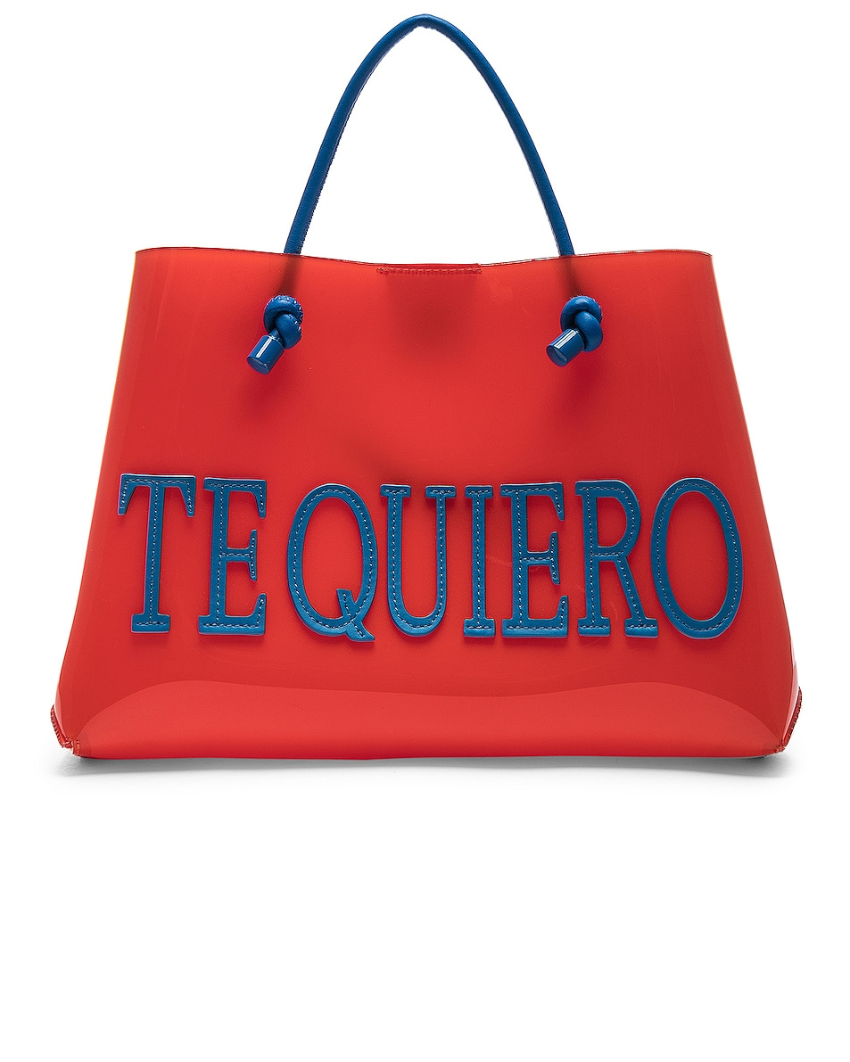 Image 1 of ALBERTA FERRETTI Te Quiero Small Tote in Orange
