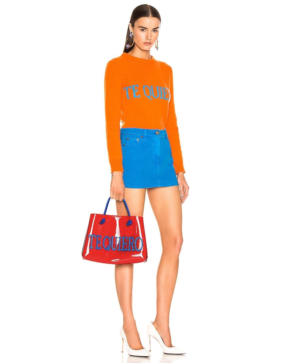Image 2 of ALBERTA FERRETTI Te Quiero Small Tote in Orange