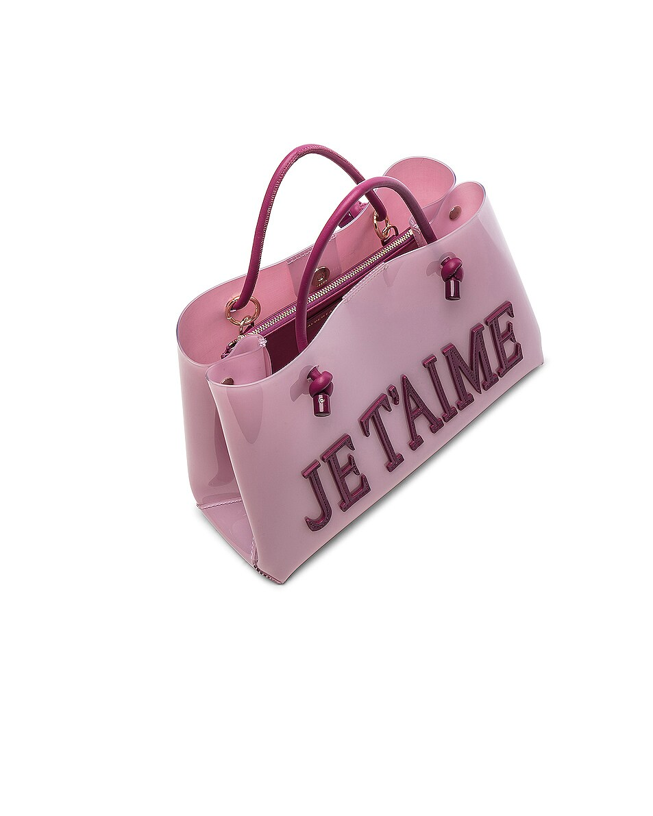 Image 5 of ALBERTA FERRETTI Je Taime Small Tote in Pink