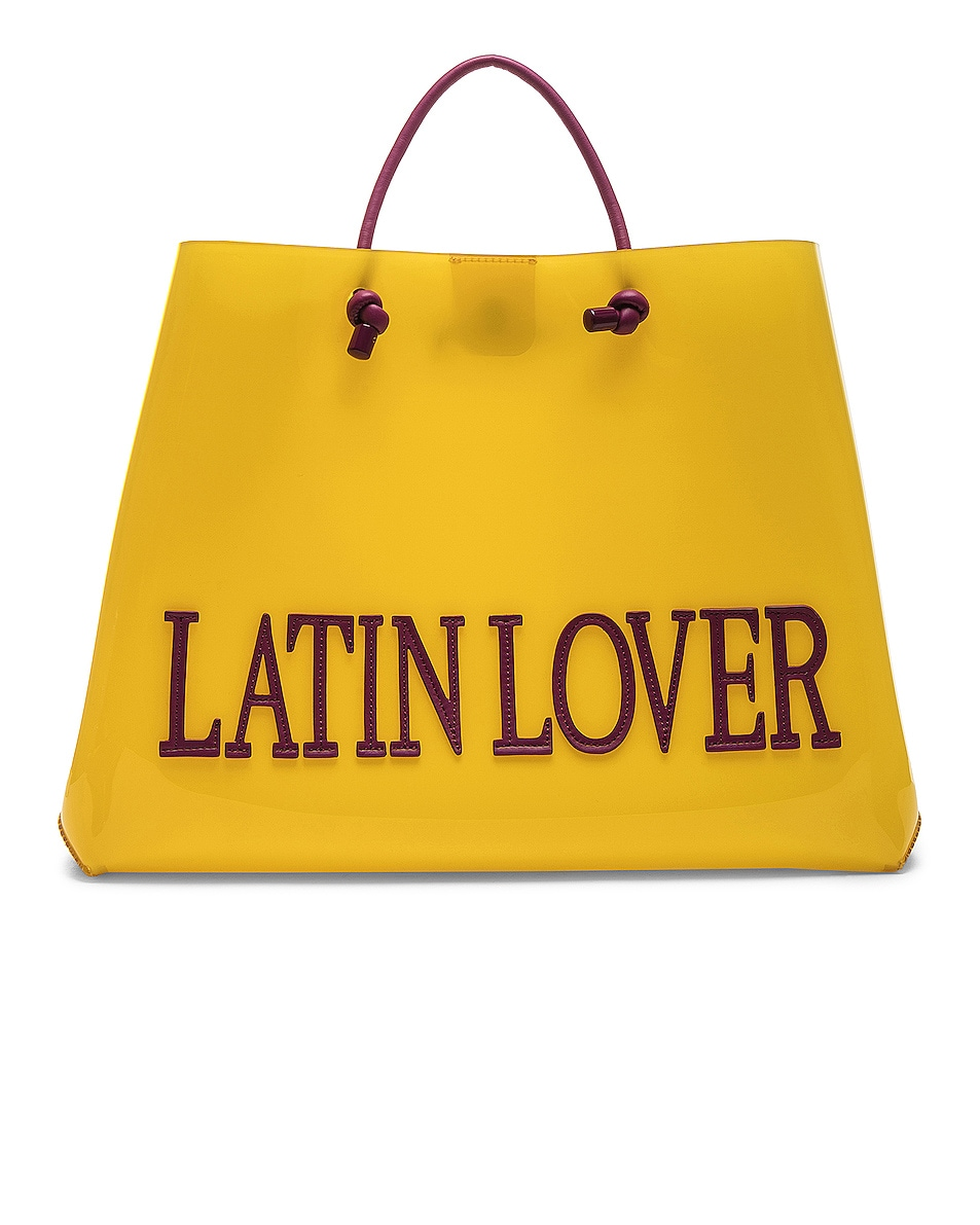 Image 1 of ALBERTA FERRETTI Latin Lover Large Tote in Yellow