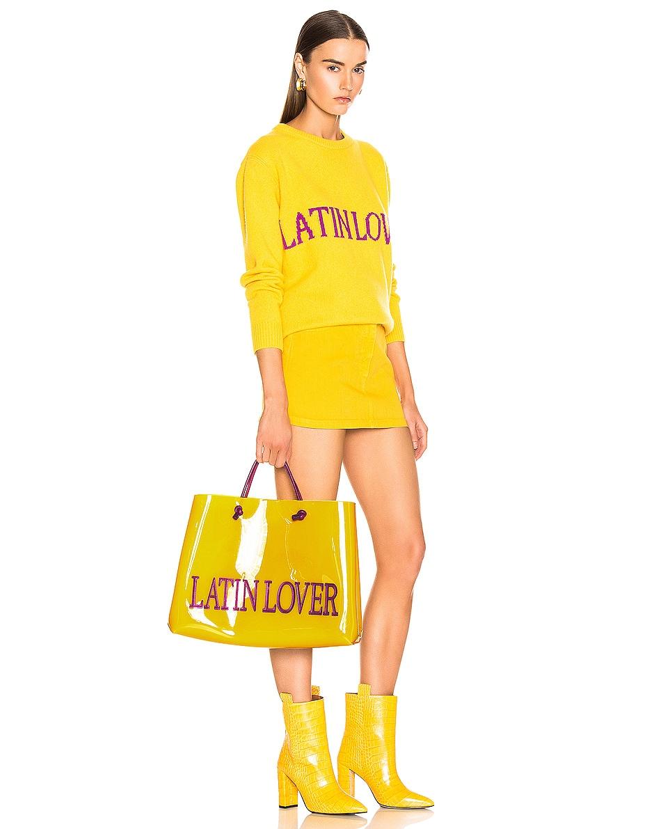 Image 2 of ALBERTA FERRETTI Latin Lover Large Tote in Yellow