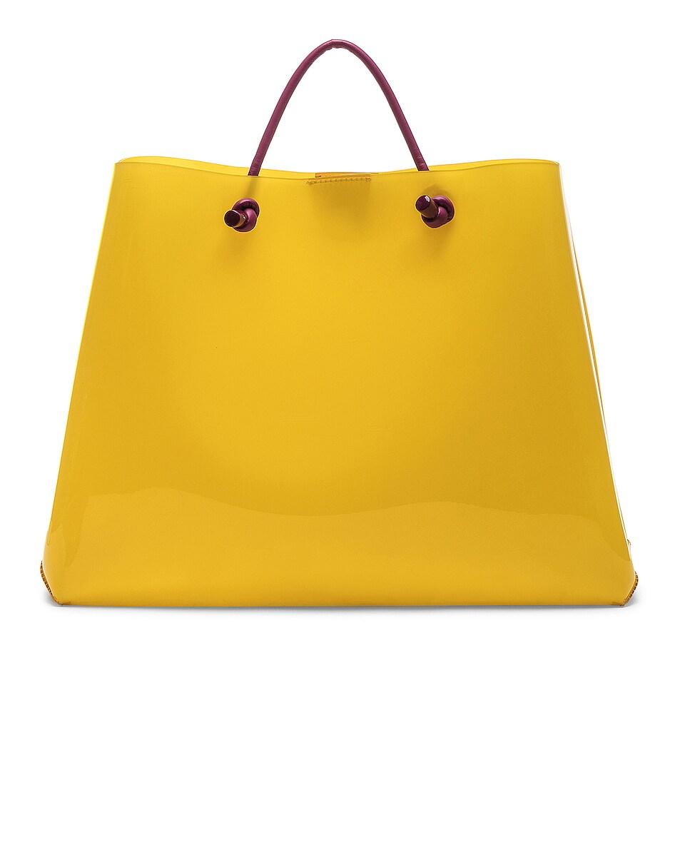 Image 3 of ALBERTA FERRETTI Latin Lover Large Tote in Yellow