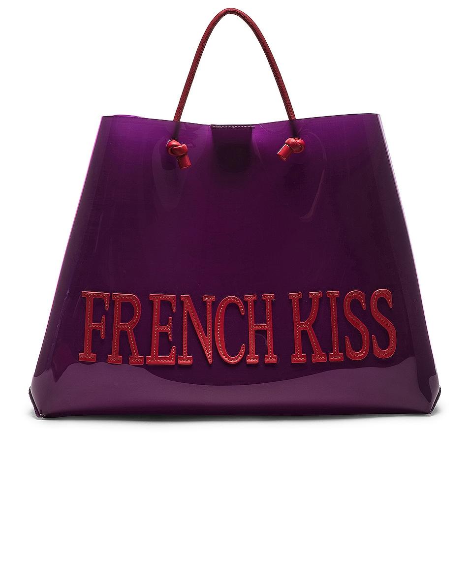 Image 1 of ALBERTA FERRETTI French Kiss Large Tote in Purple