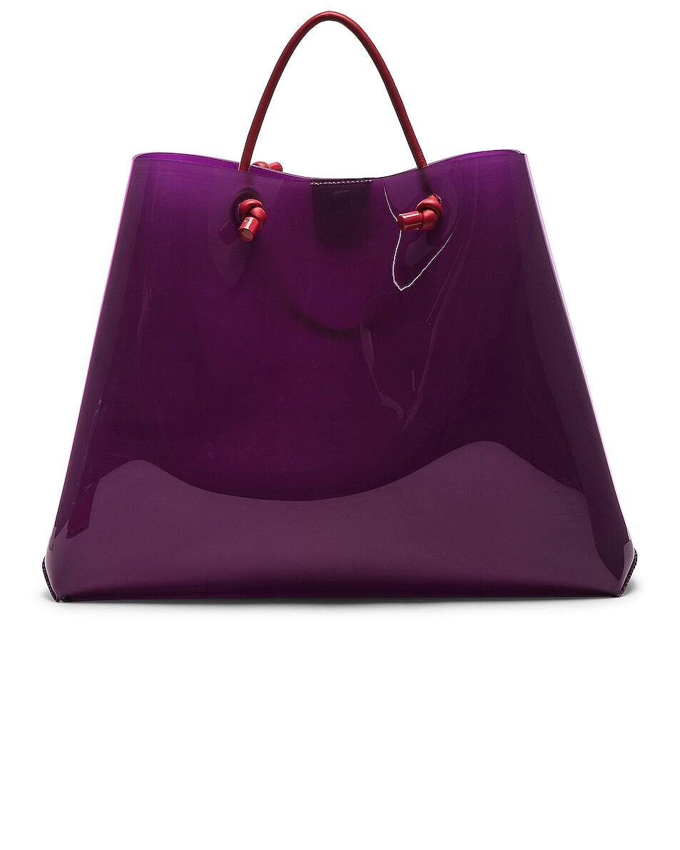 Image 3 of ALBERTA FERRETTI French Kiss Large Tote in Purple