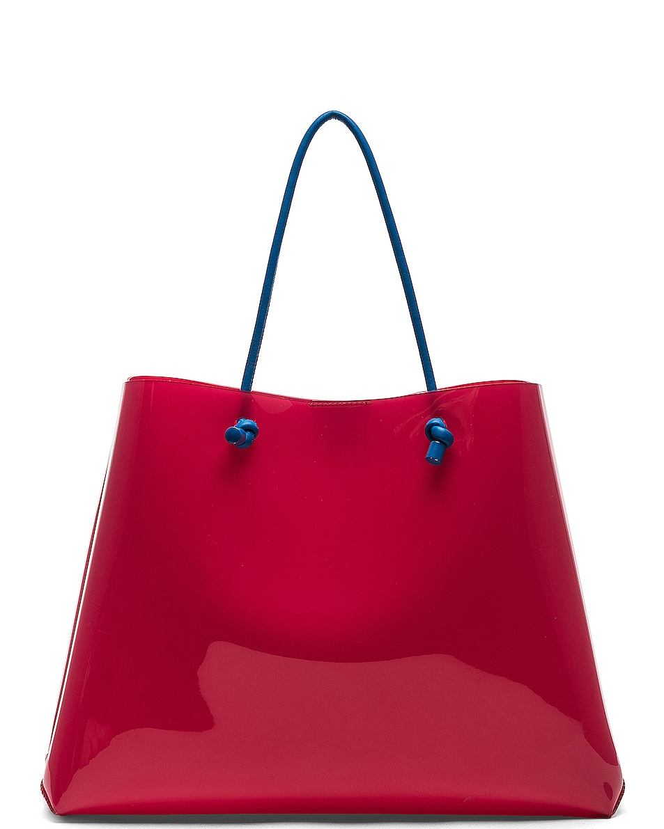 Image 3 of ALBERTA FERRETTI I Love You Large Tote in Red
