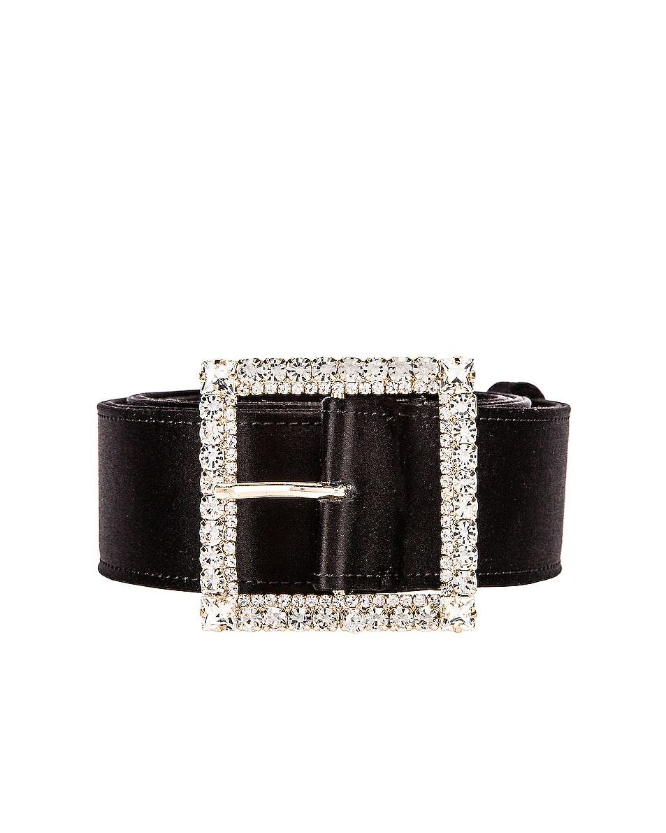 Image 1 of Alexandre Vauthier Crystal Buckle Belt in Black