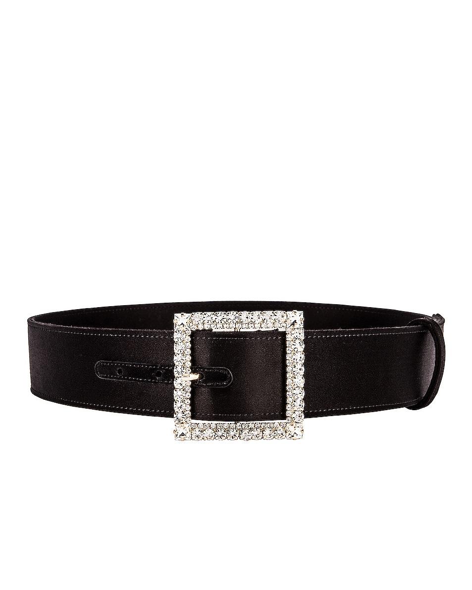 Image 2 of Alexandre Vauthier Crystal Buckle Belt in Black
